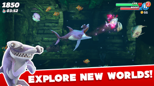hungry shark world apk hile indir
