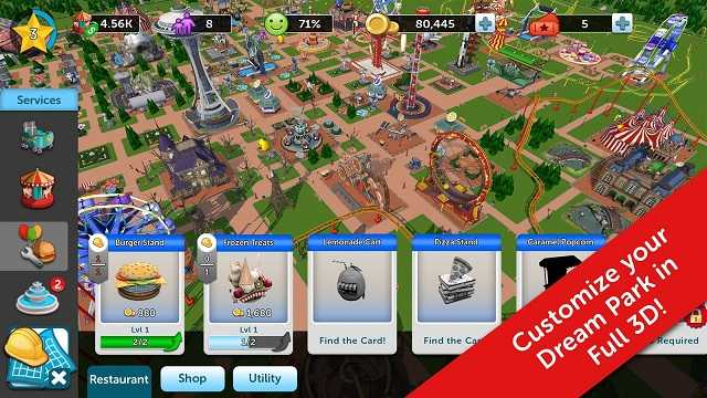 Rollercoaster tycoon 4 mobile money